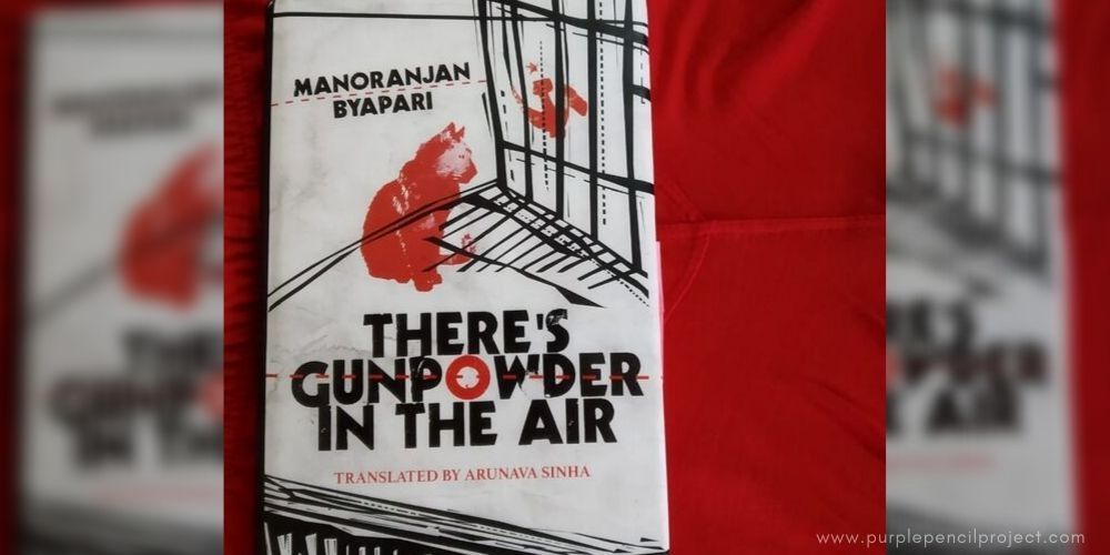 book cover for there's gunpwder in the air