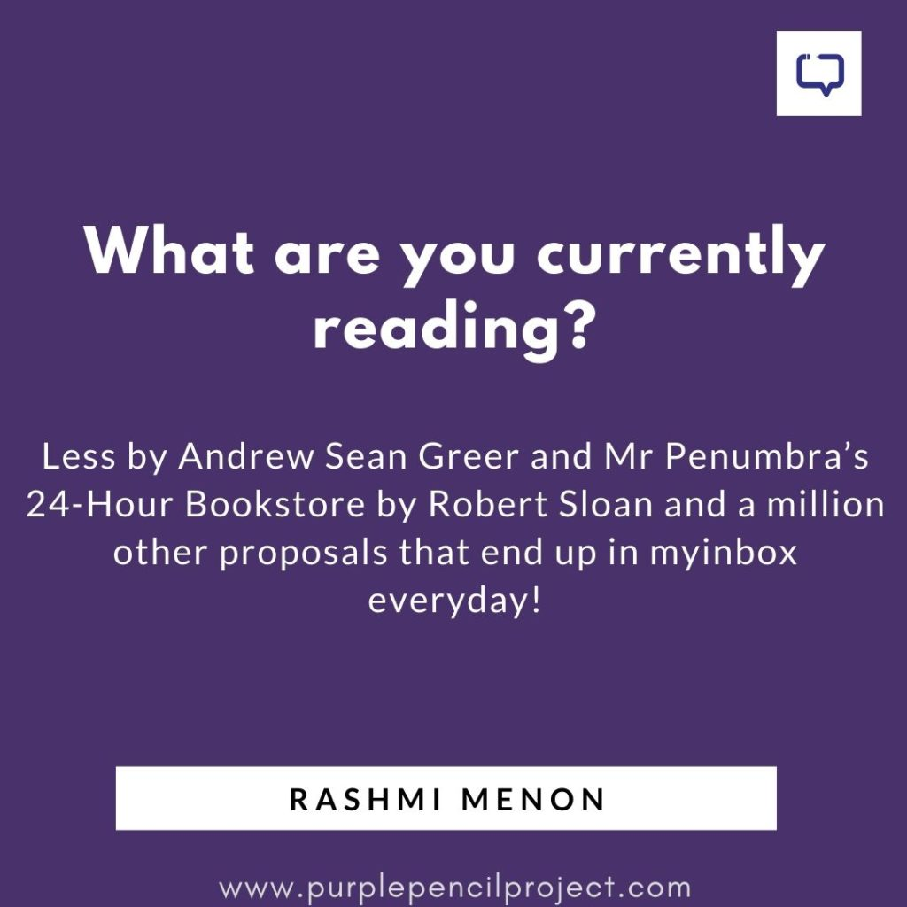 rashmi menon rapid fire question what are you currently reading