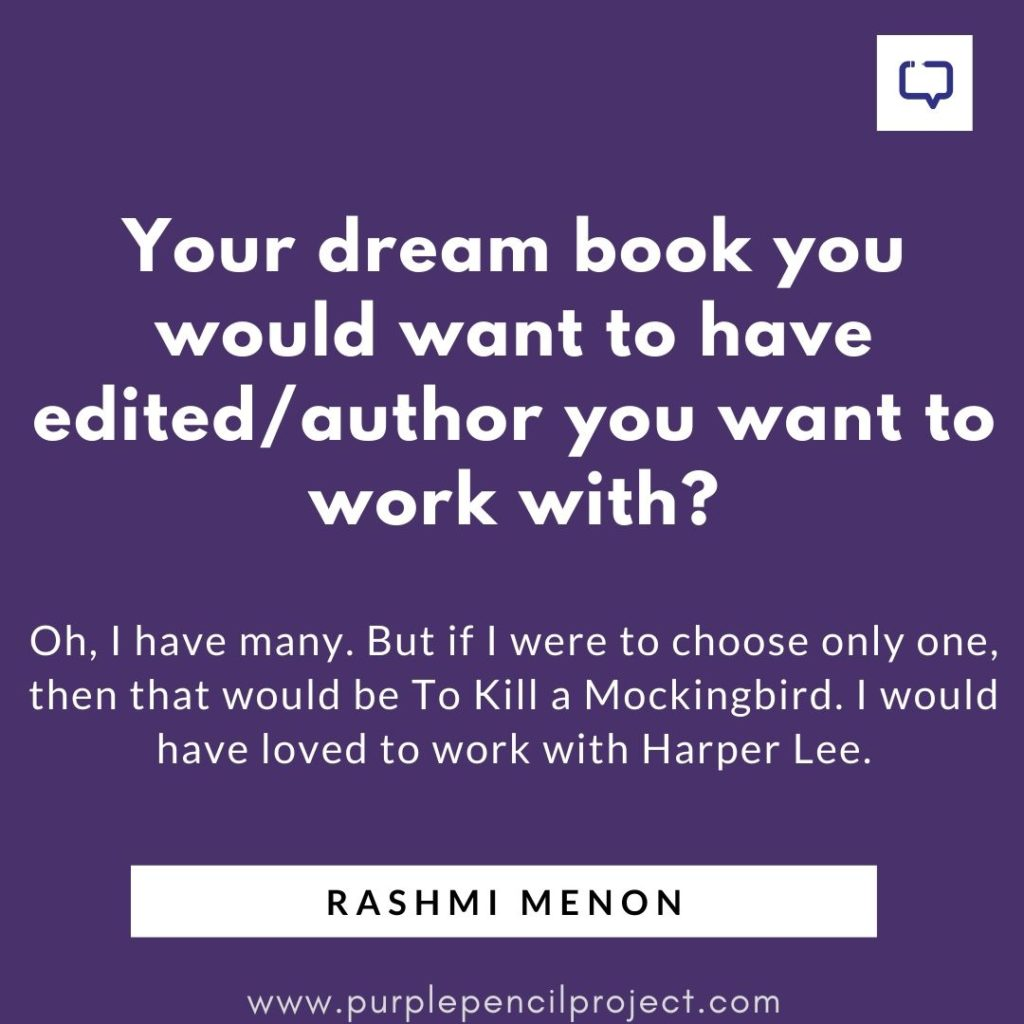 rashmi menon rapid fire question dream book to edit