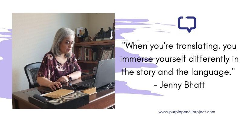 author jenny bhatt interview
